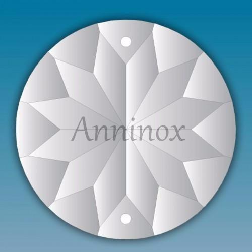 10 cristais egípcio asfour mandala feng shui 4,5 cm lustres