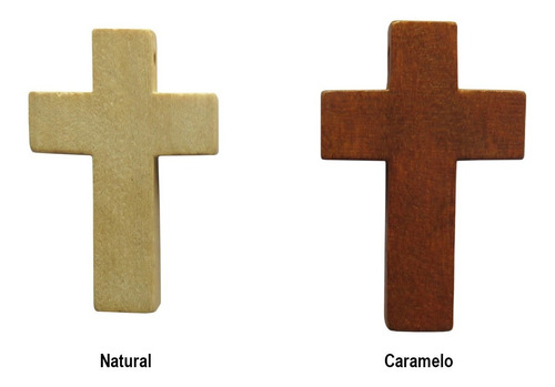10 cruces de madera 3,3 cm x 2,1 cm colgantes oferta