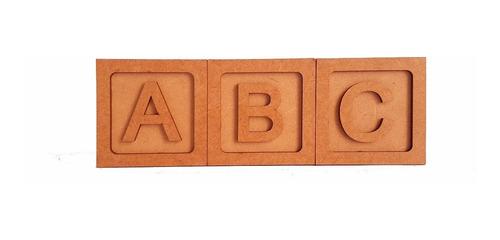10 cubo 6x6 mdf crú com moldura e letra lembrancinha festa