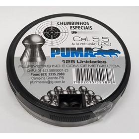 10 Cx Chumbinho Munição Puma 5,5 .22 Diabolo Melhor Q Snyper