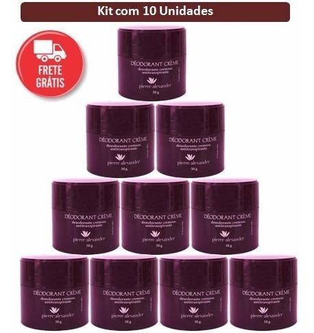 10 desodorante pierre alexander + frete + sabonete lorkin