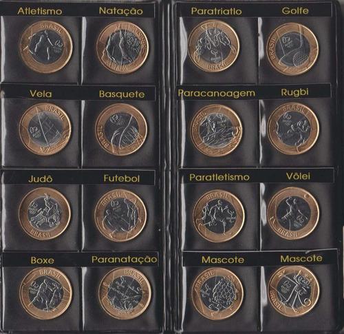 10 (dez) álbuns para 17 moedas das olimpíadas rio 2016-