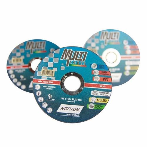 10 discos finos multi corte 114,3x1,0x22,22 norton