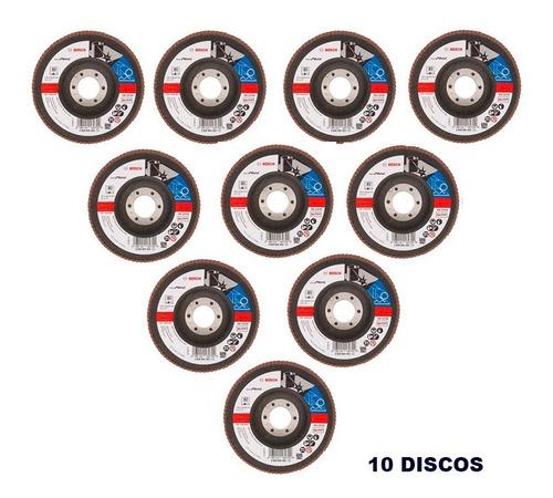 10 discos flap bosch 41/2 gr 80 maquifer