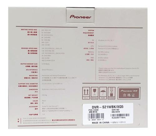 10 drive gravador dvd e cd pioneer 24x dvr-s21wbk sata