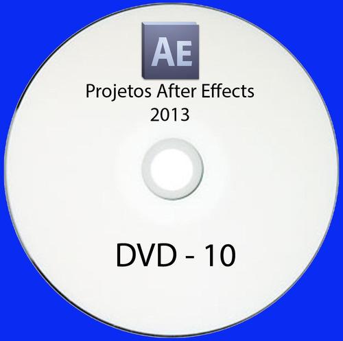 10 dvds de projetos after effects editáveis