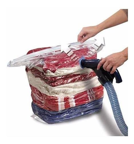10 embalagens a vácuo p/ roupas + bomba de sucção promoção