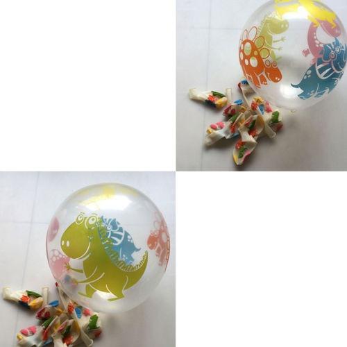 10 espesar impresión transparente claro dinosaurio globo imp