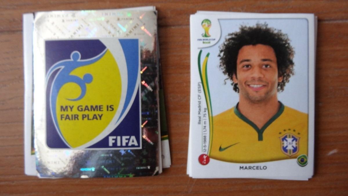 10 Estampas Panini Del Mundial De Futbol Brasil 2014 - $ 45 00