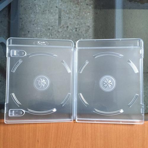 10 estuches blanco translúcido para dos discos blu ray