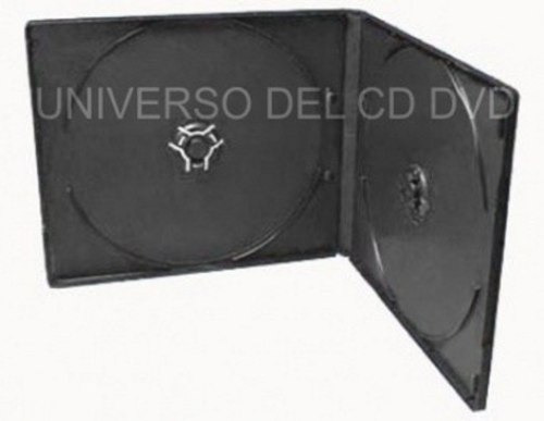 10 estuches caja slim doble de 5mm para cd-r dvd-r economico