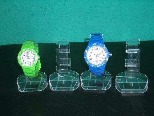 10 expositores em acrílicos p/ vitrine p/ relógio de pulso