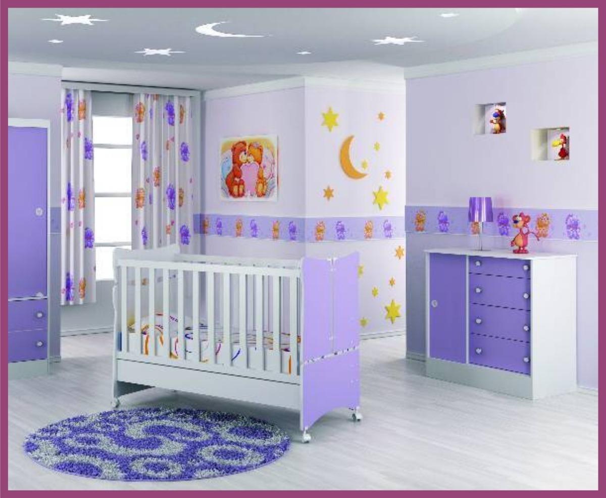 10 Faixas Adesivo Papel Parede Quarto Bebe Infantil 326 R 47  ~ Parede Para Quarto De Bebe Feminino