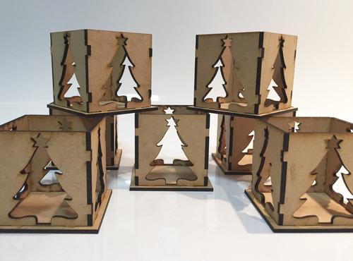 10 fanal calado souvenir pinito navidad centro mesa