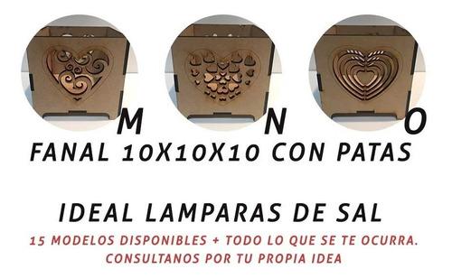 10 fanal fibrofacil souvenir 10x10 centro mesa lampara sal