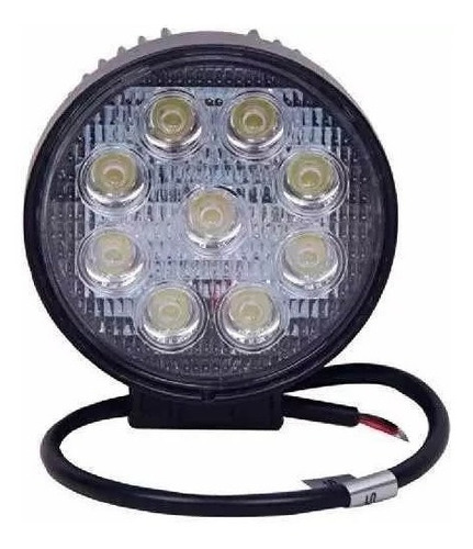 10 faros auxiliar proyector 9 led 27w auto 4x4 moto 12 y 24v