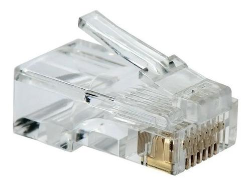 10 fichas conector rj45 utp lan categoria 5e palermo