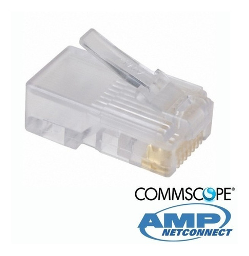 10 fichas rj45 plug cat 5 amp exc. calidad puro cobre ficha