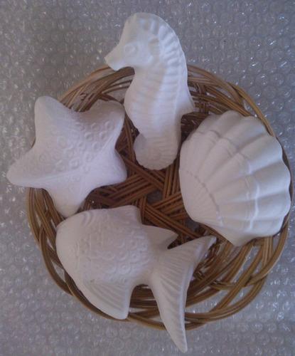 10 figuras de yeso marinas