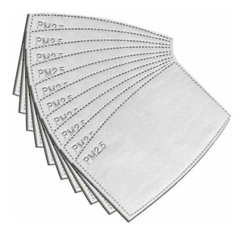 10 filtros pm2.5 de carbón activado para cubrebocas lavable