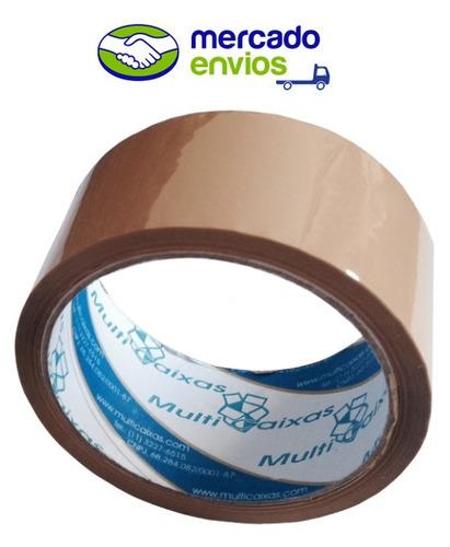 10 fitas adesivas pvc 45m x 48mm p/ caixas de papelão tr/ mr