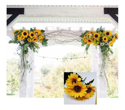 10 flor de girasol decoración eventos fiestas cumpleaños