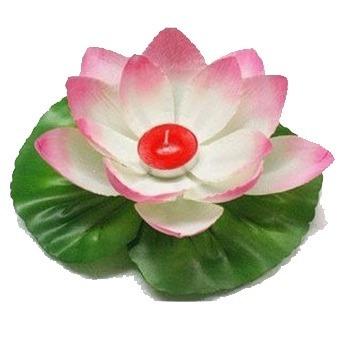 10 flores flotantes con vela,lamparas chinas boda