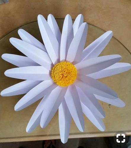 10 flores gigantes de papel decir. 15 años, bodas, baby sw