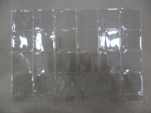 10 folha plastico moedas 24 div. furo univ.-com aba