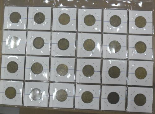 10 folha plastico moedas 24 divisõe 9 furos universa-sem aba