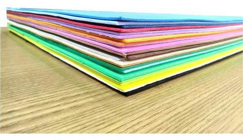 10 folhas de eva atacado placas 40x60 2mm escolar artesanato