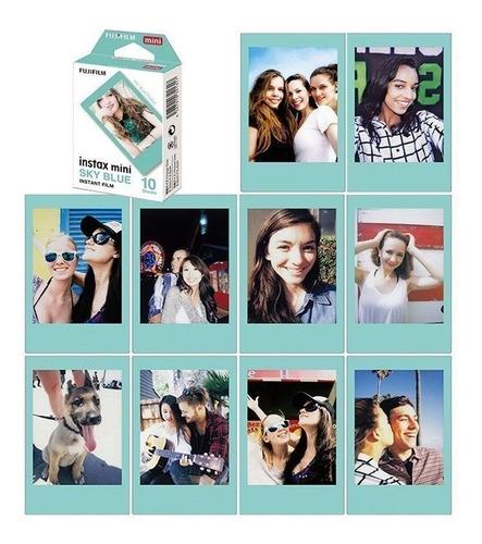 10 fotos instax mini marco celeste