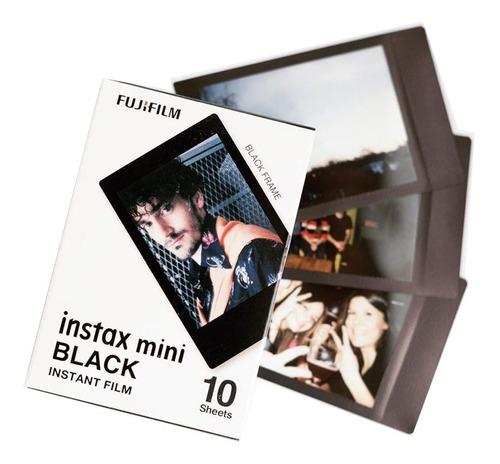 10 fotos instax mini marco negro
