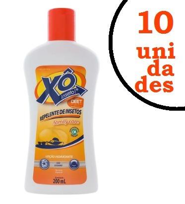 10 frascos repelente xô inseto loção 200ml fim dos mosquitos