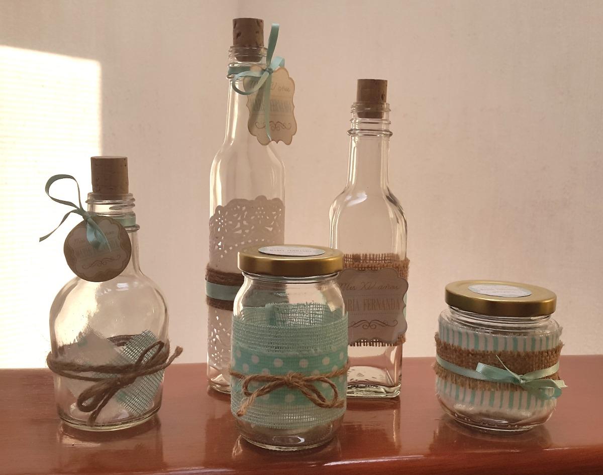 10 frascos y botellas decorados vintage para mesas de On botellas decoradas vintage