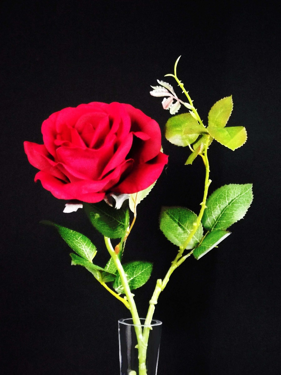 10 Galho Rosa Colombiana Vermelha Flores Artificial Buquê