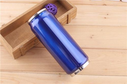 10 garrafa squeeze lata vácuo garrafinha agua moda cores