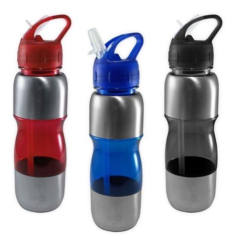 10 garrafas squeeze agua 600ml academia esportes atacado