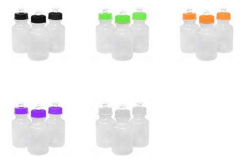 10 garrafas squeeze tampa plástica 300ml