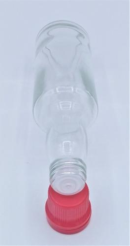 10 garrafinha de vidro 60ml molho pimenta batoque c/ furo