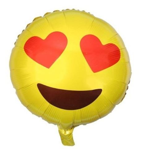 10 globos emojis metalizados 45 cm