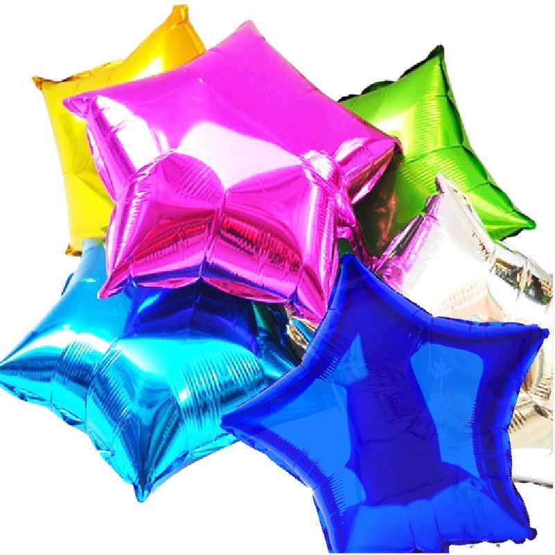10 globos metalicos estrella 18 pulgadas para decoraci n - Como conseguir globos de helio ...