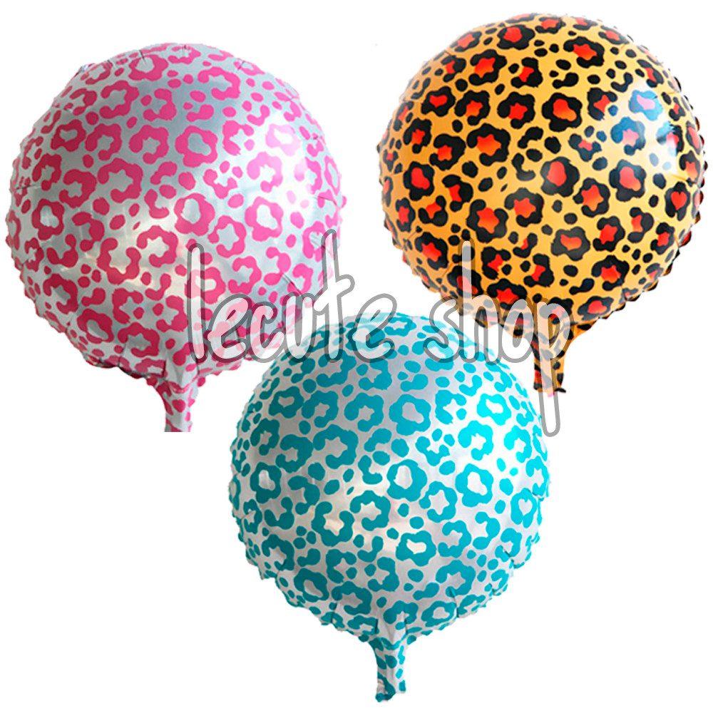 10 globos metalicos leopardo animal print fiesta for Donde comprar globos