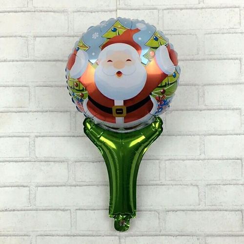 10 globos metalizados de navidad o navideños