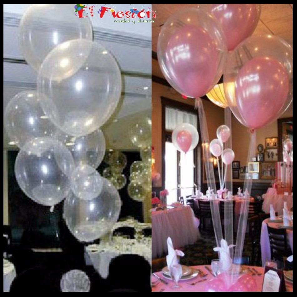 10 globos transparentes para inflar con gas helio o aire - Gas helio para globos precio ...