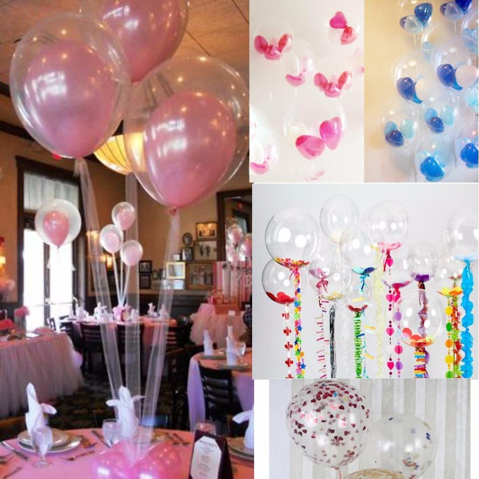 10 globos transparentes para inflar con gas helio o aire - Helio para inflar globos barato ...