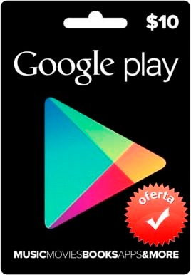$10 google play card para store usa os android (oferta)
