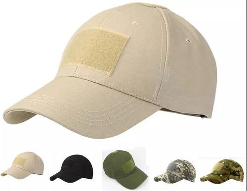 10 gorra tactica militar espacio pegotes colores surtidos