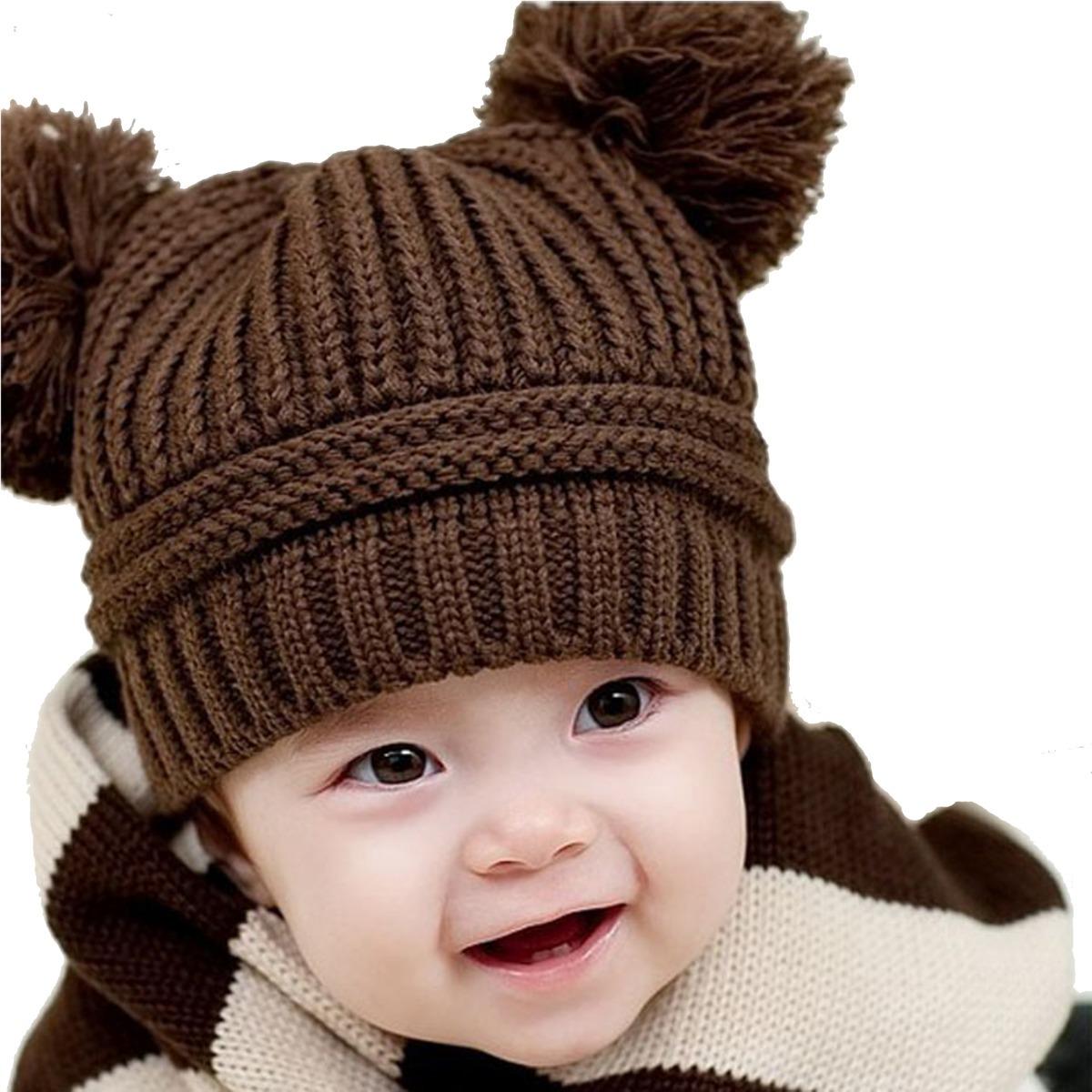 10 Gorras Beanie Tejidos Para Bebés Y Niños Calientitos -   1 90cf62cd3fc