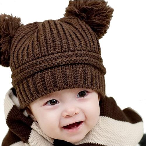 10 gorras  beanie tejidos para bebés y niños calientitos